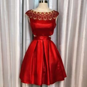 Red Sherri Hill Cocktail